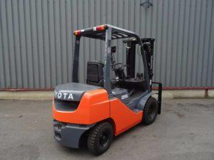 Toyota 8FD25 Diesel   Forklift Rentals   Forklift Company   Forklift Handling